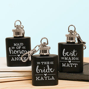 Engraved Wedding Party Mini Flask