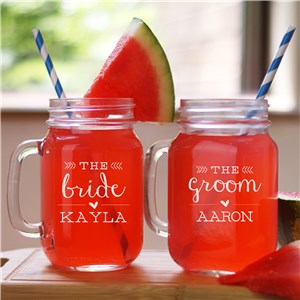 Engraved Wedding Party Mason Jar | Bridal Party Gifts
