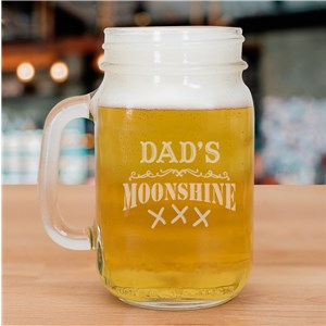 Moonshine Engraved Mason Jar | Father's Day Gifts
