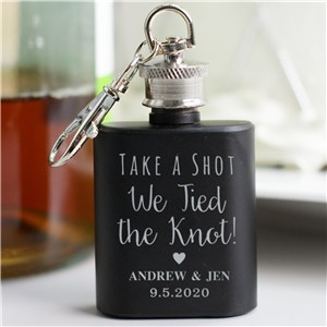 Engraved Wedding Mini Flask Favors L9510125