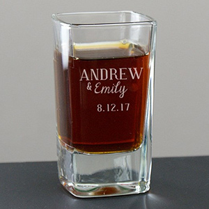 Personalized Couples Names Shot Glass