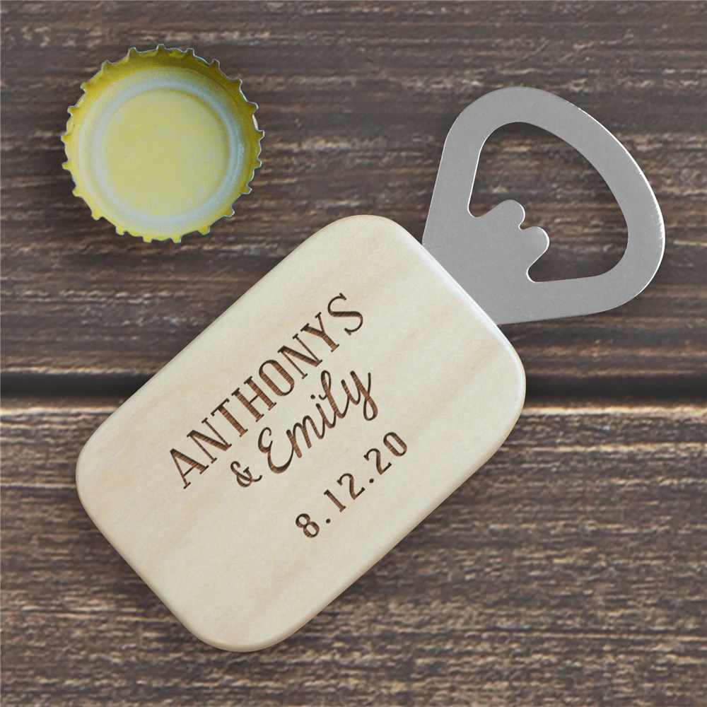 Engraved Couples Names Bottle Opener | Personalized Couple Gifts