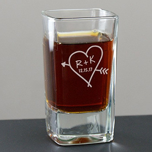 Couples Romantic Shot Glass | Personalized Wedding Gift