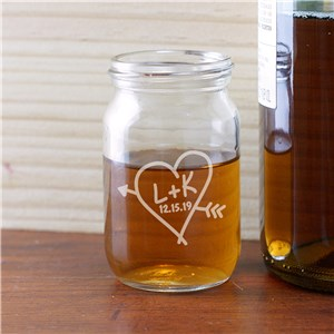 Engraved Couples Mason Jar Shot Glass | Personalized Shot Glasses For Couples