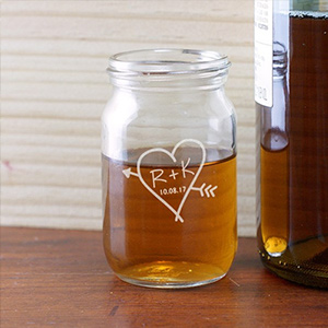 Engraved Couples Mason Jar Shot Glass L9512117