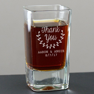 Engraved Thank You Shot Glass