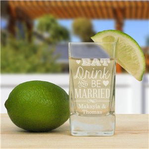 Engraved Wedding Shot Glass L9510114