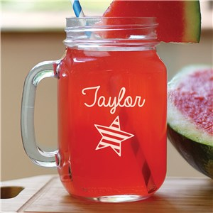 Engraved Mason Jar | Patriotic Gifts