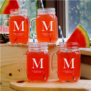 Family Monogram Mason Jar Set L955371S