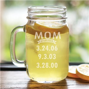 Engraved Mom Mason Jar | Personalized Gifts For You