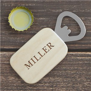 Any Name Engraved Bottle Opener | Personalized Bar Gifts For Dad