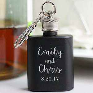 Personalized Couples Mini Flask Favors | Personalized Couple Gifts