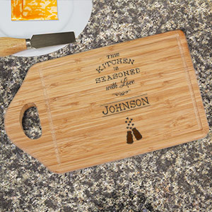 Engraved Seasoned with Love Cutting Board