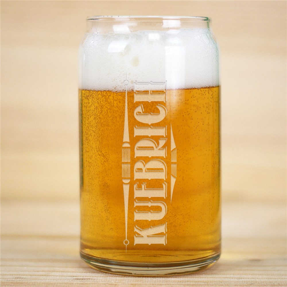 Engraved Any Name Beer Glass | Beer Glass For Him