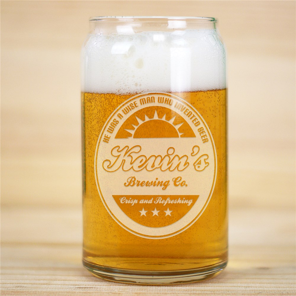 Beer Can Glass | Personalized Father's Day Presents