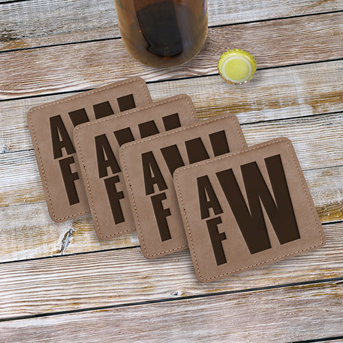 Couple's Initials Coaster Set | Personalized Couple Gifts