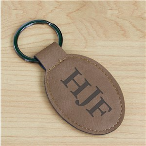 Monogram Leather Keychain | Personalized Groomsmen Accessories