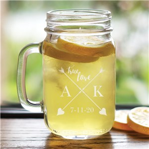 Personalized True Love Mason Jar | Personalized Valentine's Day Gifts
