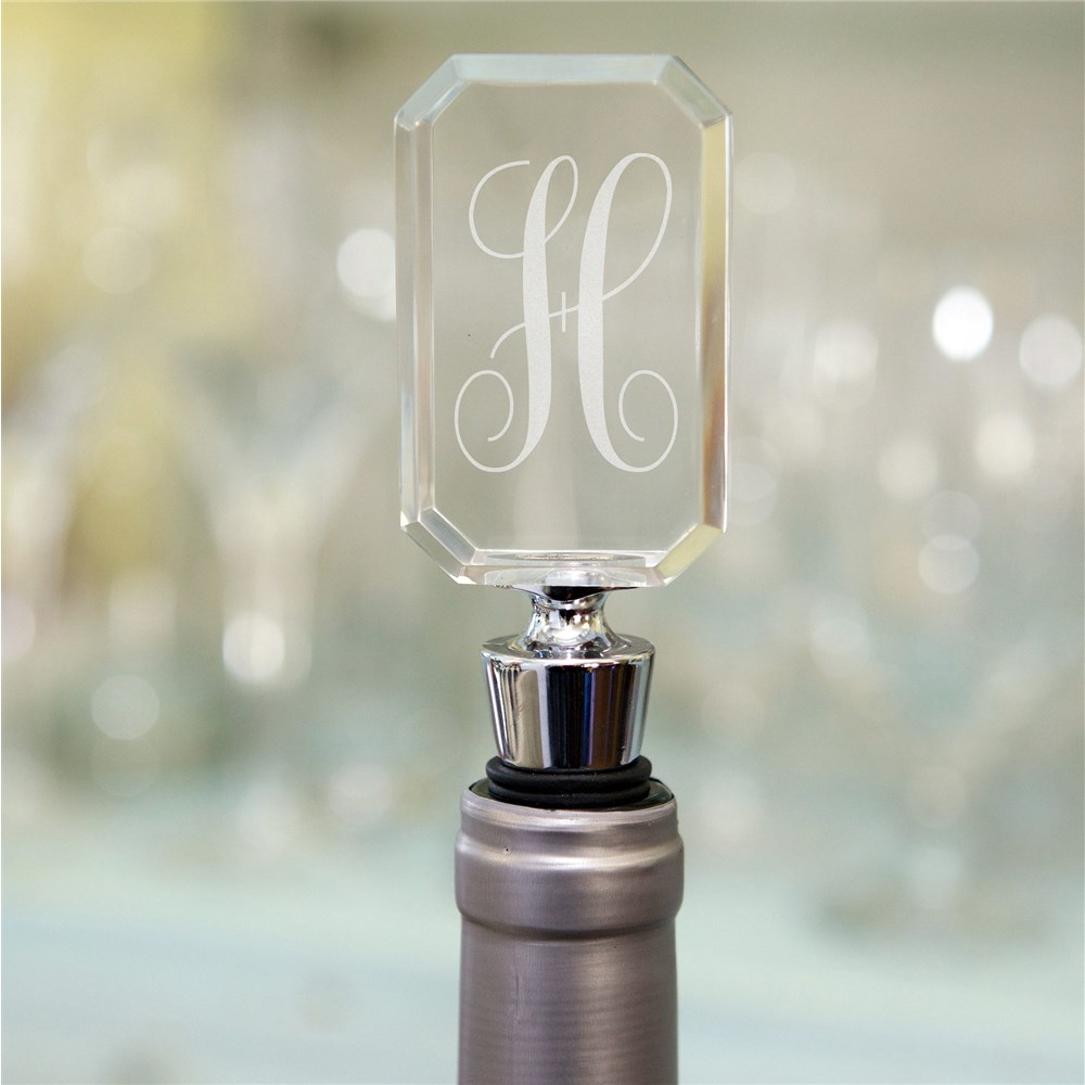 Personalized Initial Acrylic Bottle Stopper | Personalized Wine Gifts