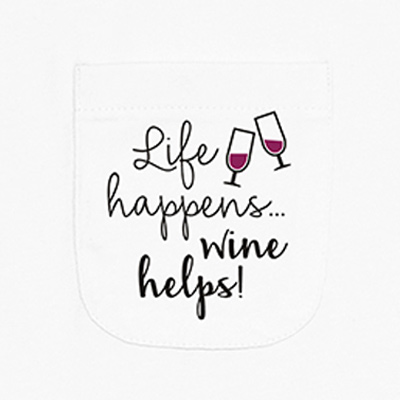 Life Happens Wine Helps Ladies Pocket T-Shirt LPT311315X