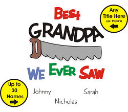 Best We Ever Saw Personalized Neck Tie | Personalized Grandpa Gifts