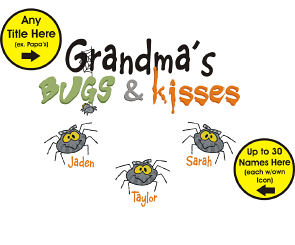 Bugs and Kisses Personalized Halloween Apron | Personalized Cooking Apron