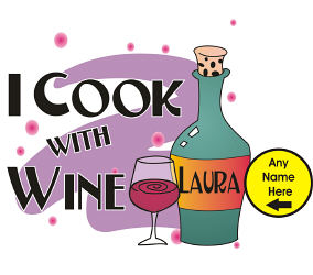 Cook With Wine Apron | Personalized Aprons