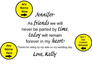 Friends Forever Keepsake Heart Clock | Personalized Bridesmaid Gifts