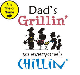 Grillin' and Chillin' Apron | Personalized Aprons
