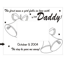 …Is her Daddy Wood Picture Frame | Personalized Wood Picture Frames