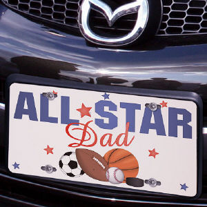 All Star License Plate