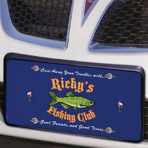 Fishing Club License Plate