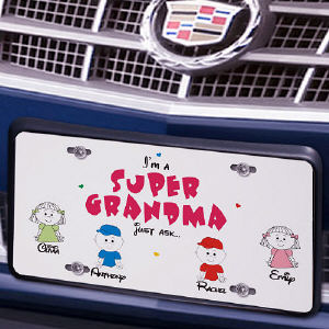 Super Grandma License Plate