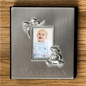 Engraved Silver Baby Photo Album | Personalized Baby Photo Album