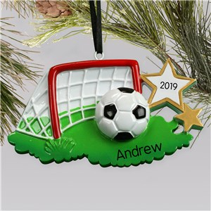 Personalized Soccer Net ornament | Personalized Soccer Ornaments