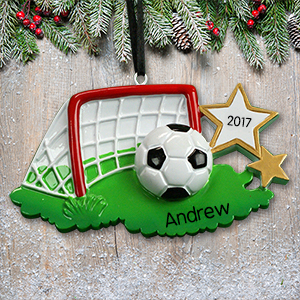 Personalized Soccer Net Ornament