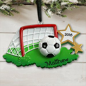 Personalized Soccer Net ornament | Personalized Christmas Ornaments for Kids