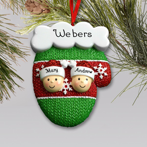 Personalized Mitten Family Ornament | Personalized Family Christmas Ornaments