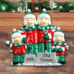 Personalized Snow Shovel Family Ornament | Personalized Family Christmas Ornaments