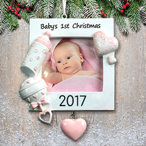 Personalized Baby Girl's 1st Christmas Ornament | Personalized Picture Ornaments