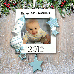 Personalized Baby Boy's 1st Christmas Ornament | Baby's First Christmas Ornaments