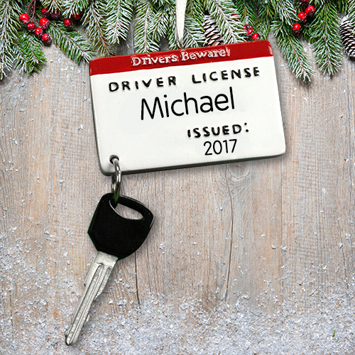 Personalized Drivers License Ornament M1074364