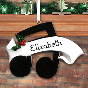 Personalized Musical Note Ornament
