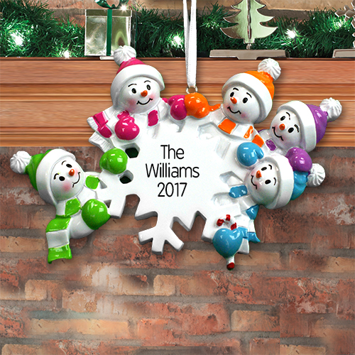 Personalized Falling Snowman Ornament | Personalized Family Christmas Ornaments