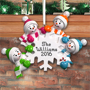 Personalized Falling Snowman Ornament M107487X