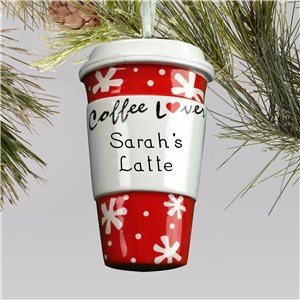 Personalized Coffee Lovers Ornament | Christmas Ornaments Personalized