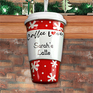 Personalized Coffee Lovers Ornament