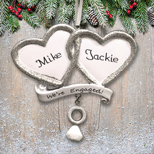 Personalized We're Engaged Ornament M1075185