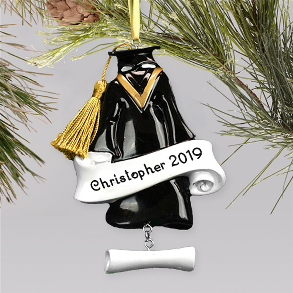 Personalized Graduation Cap & Gown Ornament | 2019 Grad Gifts