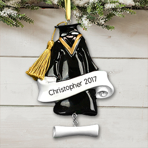 Personalized Graduation Cap & Gown Ornament | 2018 Grad Gifts
